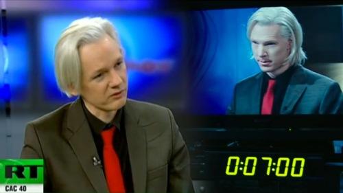 Julian Assange as himself, Benedict Cumberbatch as Julian Assange